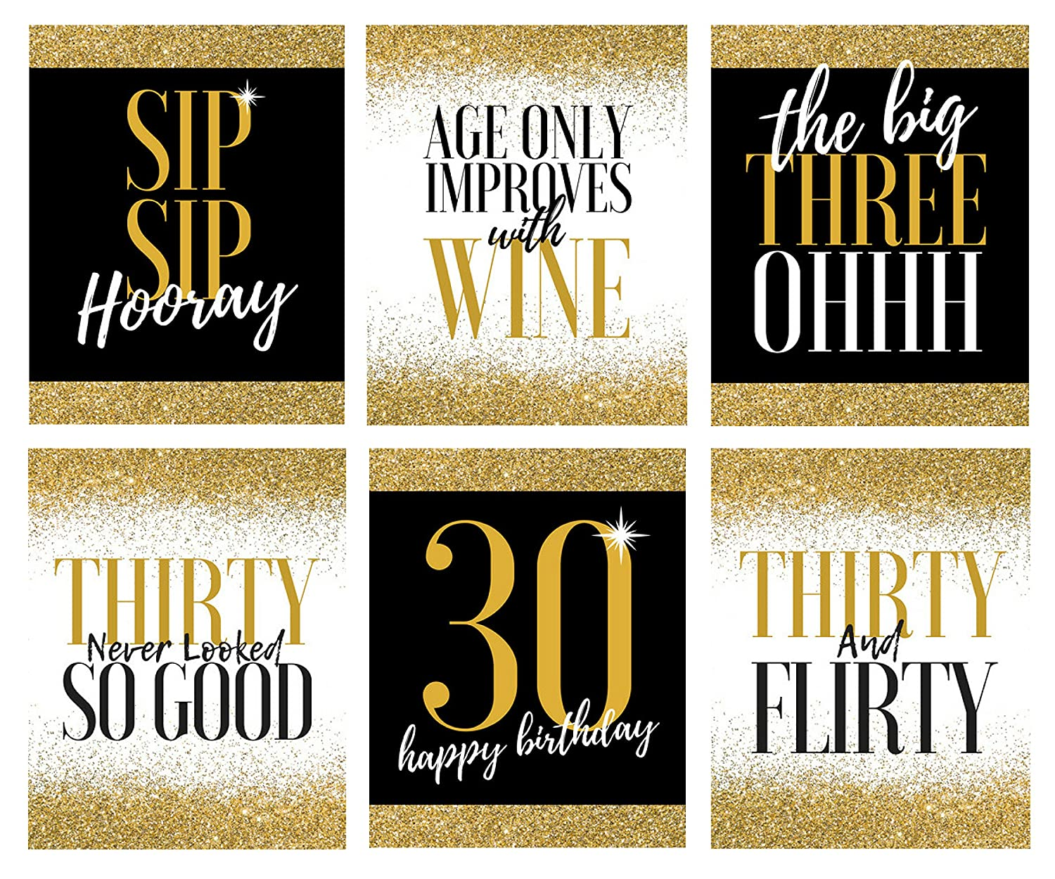 Amazon.com | 30th Birthday Wine Bottle Labels - Great Present for ...