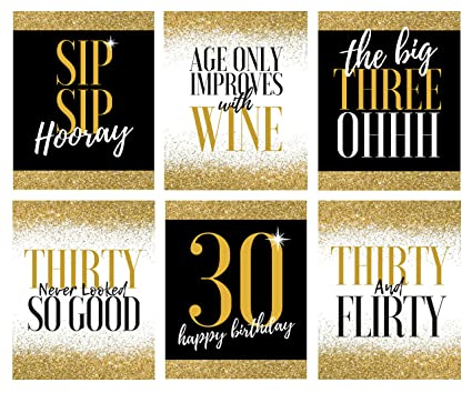 30th Birthday Wine Bottle Labels