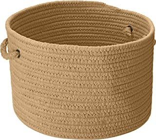 """product image for Colonial Mills Sunbrella Solid Basket 16""""x16""""x11"""" Wheat"""
