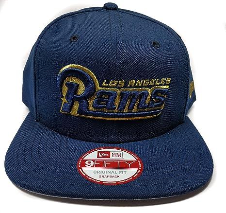 b39de77b Amazon.com : New Era Los Angeles Rams 9Fifty Blue Word Mark Script ...