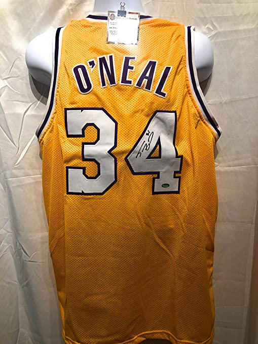 e7bec475e Shaquille O Neal Los Angeles Lakers Signed Autograph Custom Jersey Schwartz  Sports Certified