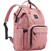 Diaper Bag Backpack for Girls, Multi-Function Waterproof Maternity Nappy Bags for Travel with Baby, Large Capacity, Stylish and Durable, Pink