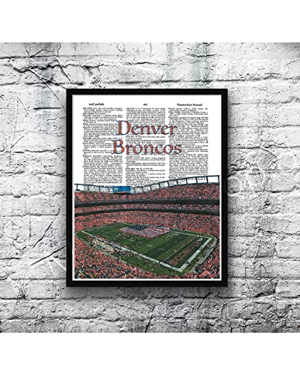 Amazon.com: Denver Broncos photo Dictionary Art Print Sports ...