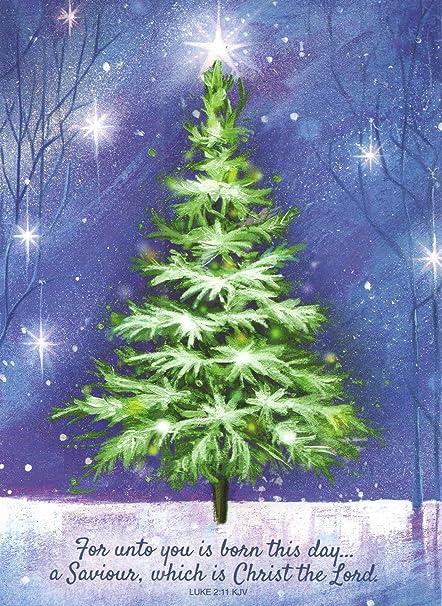 religious christmas card 9 pack christmas tree a savior is born 5
