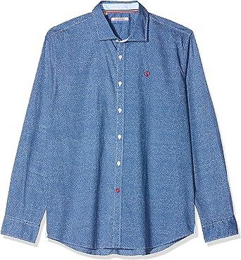 El Ganso Popelin Camisa Casual, Multicolor (Azul/Blanco 9), X ...