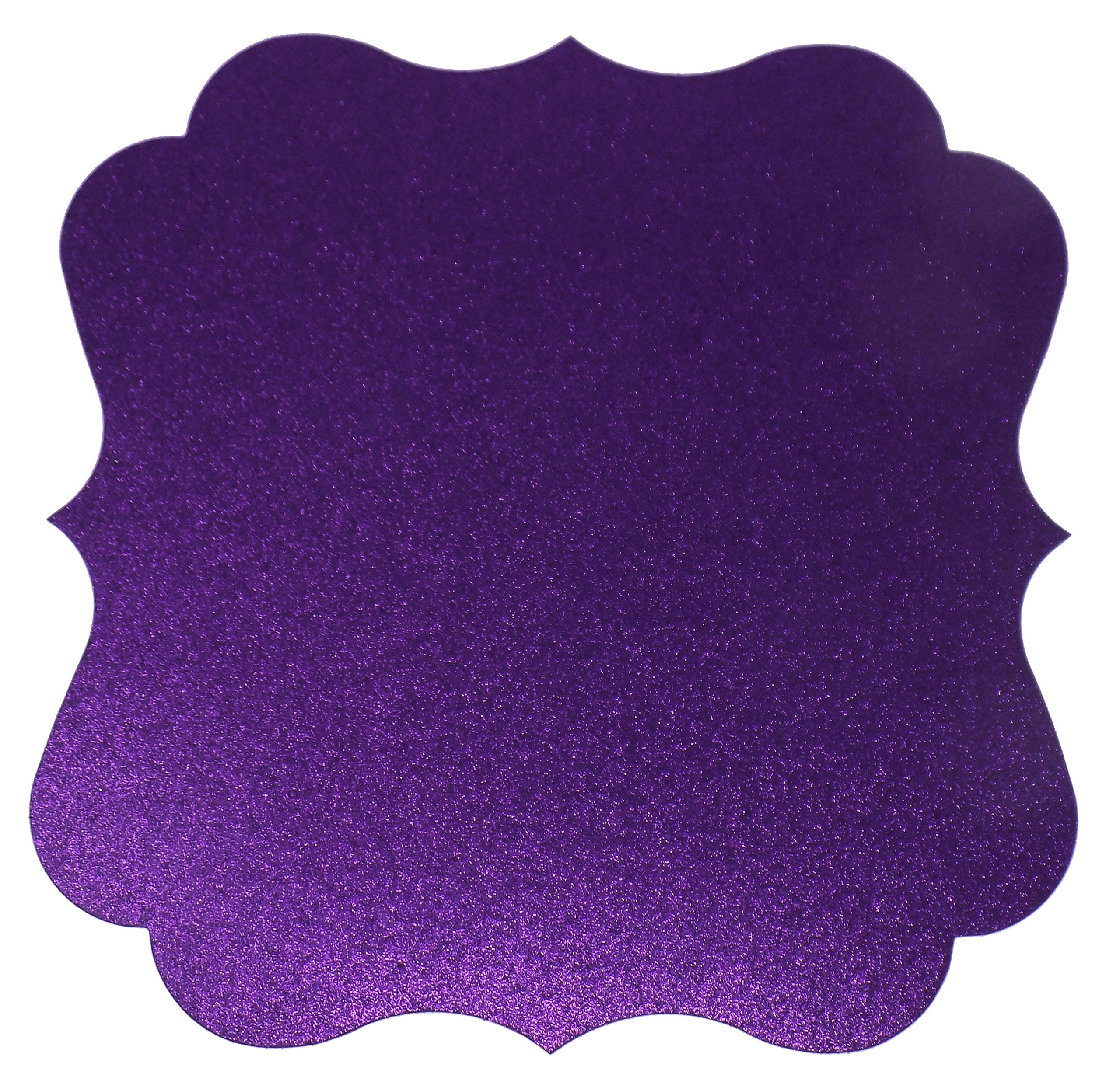 PaperGala Glitter Chargers Paper Board Placemats for Plates Weddings 10 Pack (Purple)