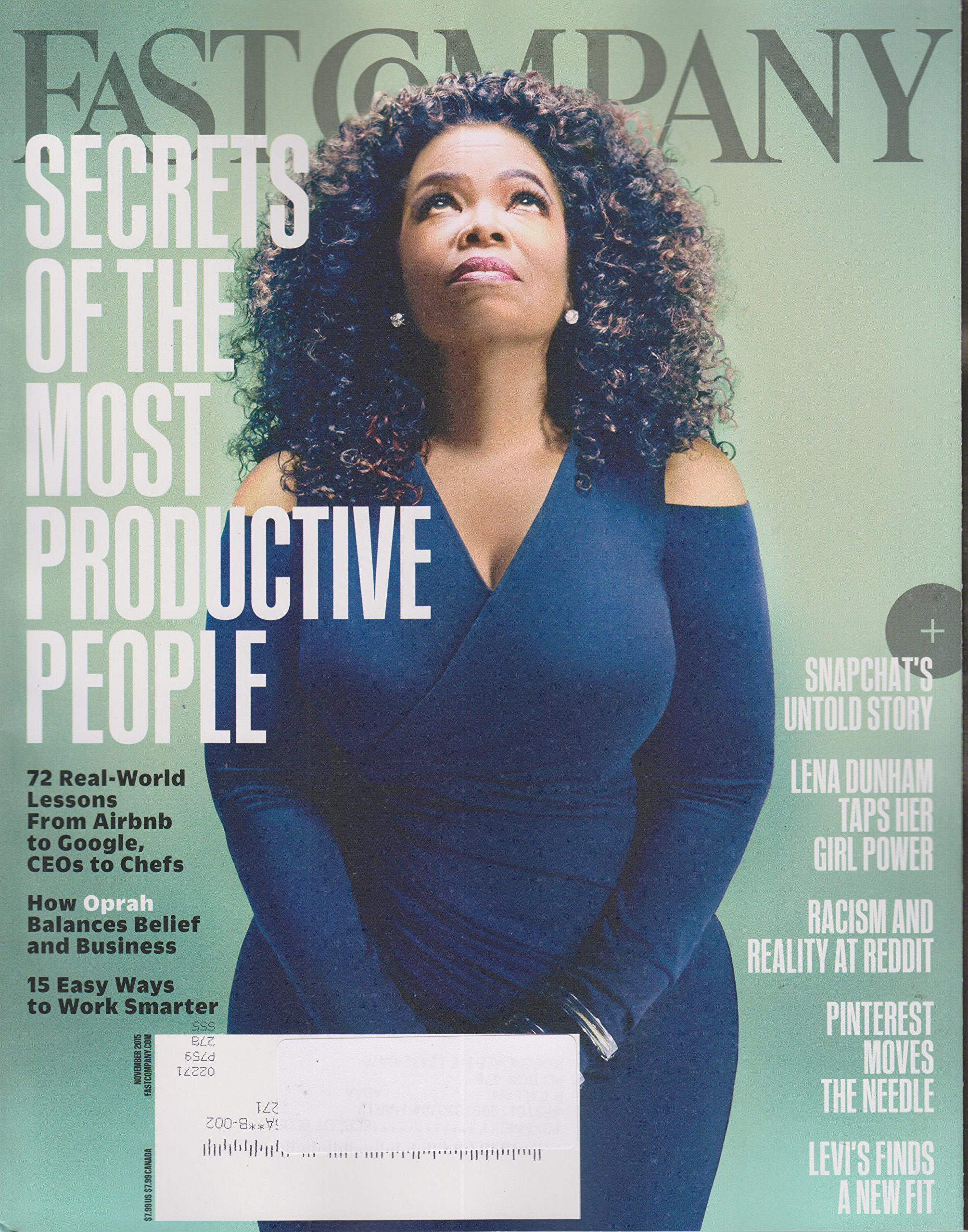Fast Company November 2015 Oprah Secrets of The Most Productive People pdf epub