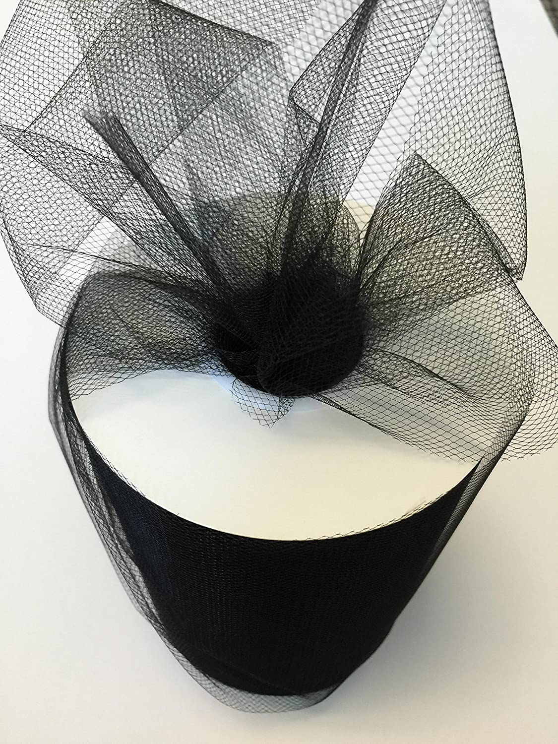 B01NALB40T Tulle Fabric Spool/Roll 6 inch x 100 Yards (300 feet), 34 Colors Available, On Sale Now! (Black) A157M7iejyL