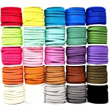 Mandala Crafts 138 Yards Jewelry Making Flat Micro Fiber Lace Faux Suede Leather Cord (5mm, 25 Rolls Combo)