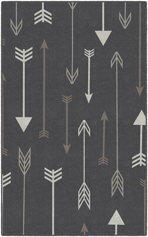 26 x 310 Brumlow Mills EW10233-30x46 Bohemian Arrows Gray Area Rug