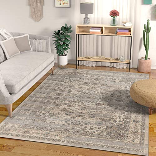 Well Woven Campo Owen Vintage Global Oriental Medallion Beige 8 9 x 12 5 Distressed Area Rug
