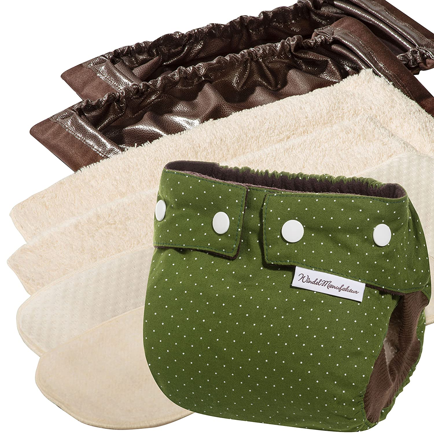 WindelManufaktur Cloth Nappies: Beginner's set, reusable and washable diapers, Made in Germany
