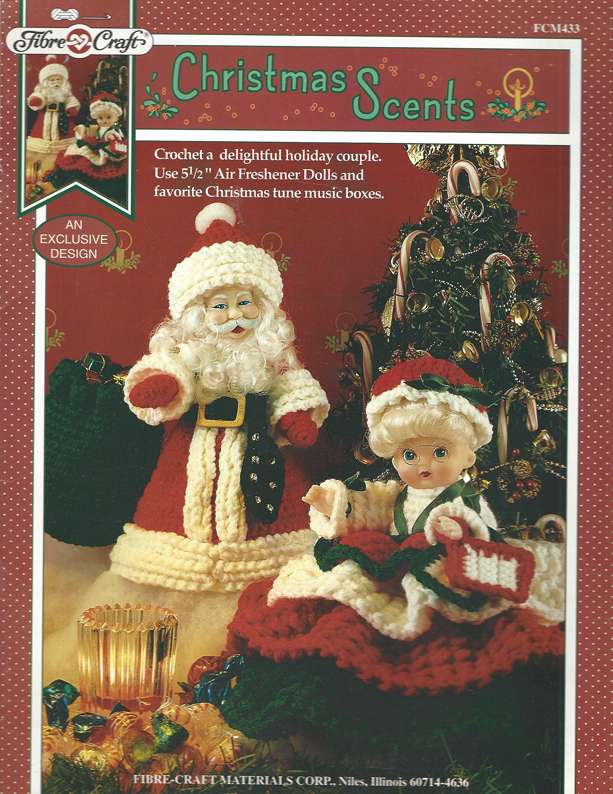 Christmas Scents - Crochet Patterns for Mr. and Mrs. Santa - # FCM433 Pamphlet – 1995 Susan Jennings Fibre Craft B000YBFBC2