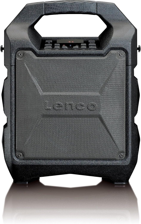 Lenco Pa 30 Pa Anlage Mobil Mit Akku Und Bluetooth Usb Aux Mikrofon Anschluss Ukw Radio 25 Watt Rms Schwarz Audio Hifi