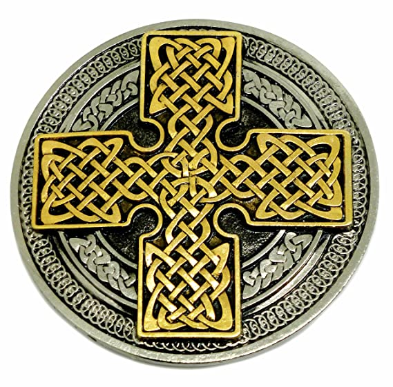 9f59264ae99e Noeud Celtique   Croix Boucle de Ceinture - Circulaire Conception 24ct Or -  Authentique Ultimate Buckles