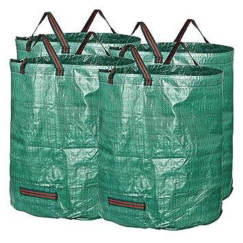 GardenMate 4X Bolsas de Basura de jardín 272L - Altura 76 cm Ø 67 cm - Polipropileno (PP)