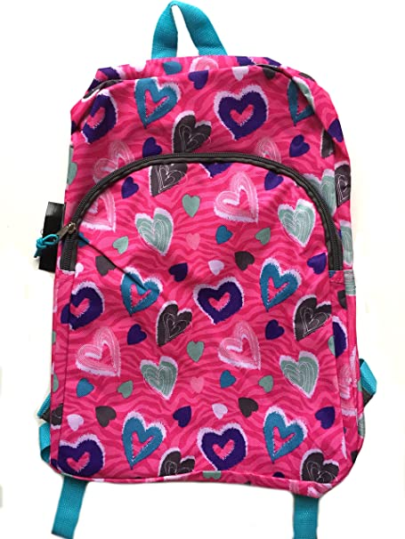Amazon.com | Colorful Hearts School Backpack Back Pack Book Bag ...