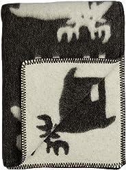 68be4e9a Roros Tweed Designer 100% Norwegian Wool Throw in Many Patterns (ELG in Grey /