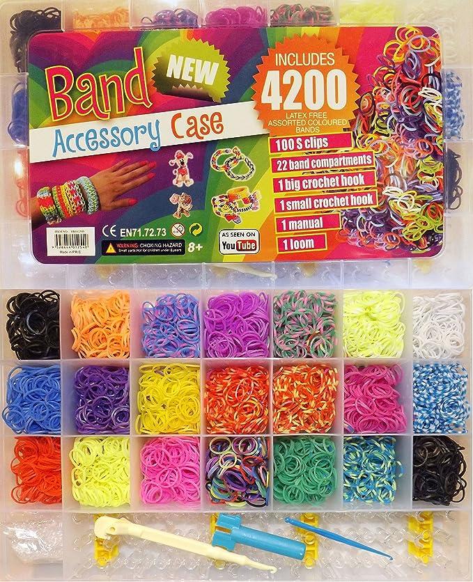 300 Ringe Starterset NEU Loom Bänder // Loomies // Loom Bands BUNT