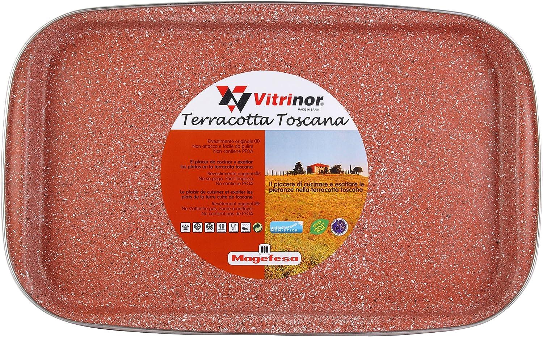Magefesa Toscana Terracota Bandeja 40 cm de Acero esmaltado