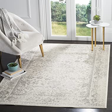 Safavieh Adirondack Collection ADRW109C Ivory and Silver Vintage Distressed Area Rug (8' x 10')