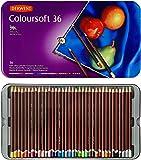 Derwent Coloursoft Matite Colorate in Scatola di Metallo (Confezione da 36)