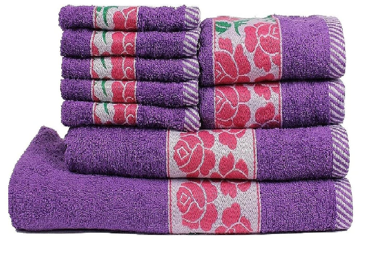 超人気新品 Trident 100%コーマ綿 (バス Sets、ハンド&ウォッシュクロス) タオルギフトセット 9 Towel Purple Pieces Towel Sets レッド FLJ09MWHF123 B015PROEFE 9 Pieces Towel Sets|Floral Purple Floral Purple 9 Pieces Towel Sets, オーダーカーテンの店メルサ:5057f056 --- arianechie.dominiotemporario.com