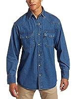 Key Apparel Men's Big & Tall Long Sleeve Western Snap Denim Shirt