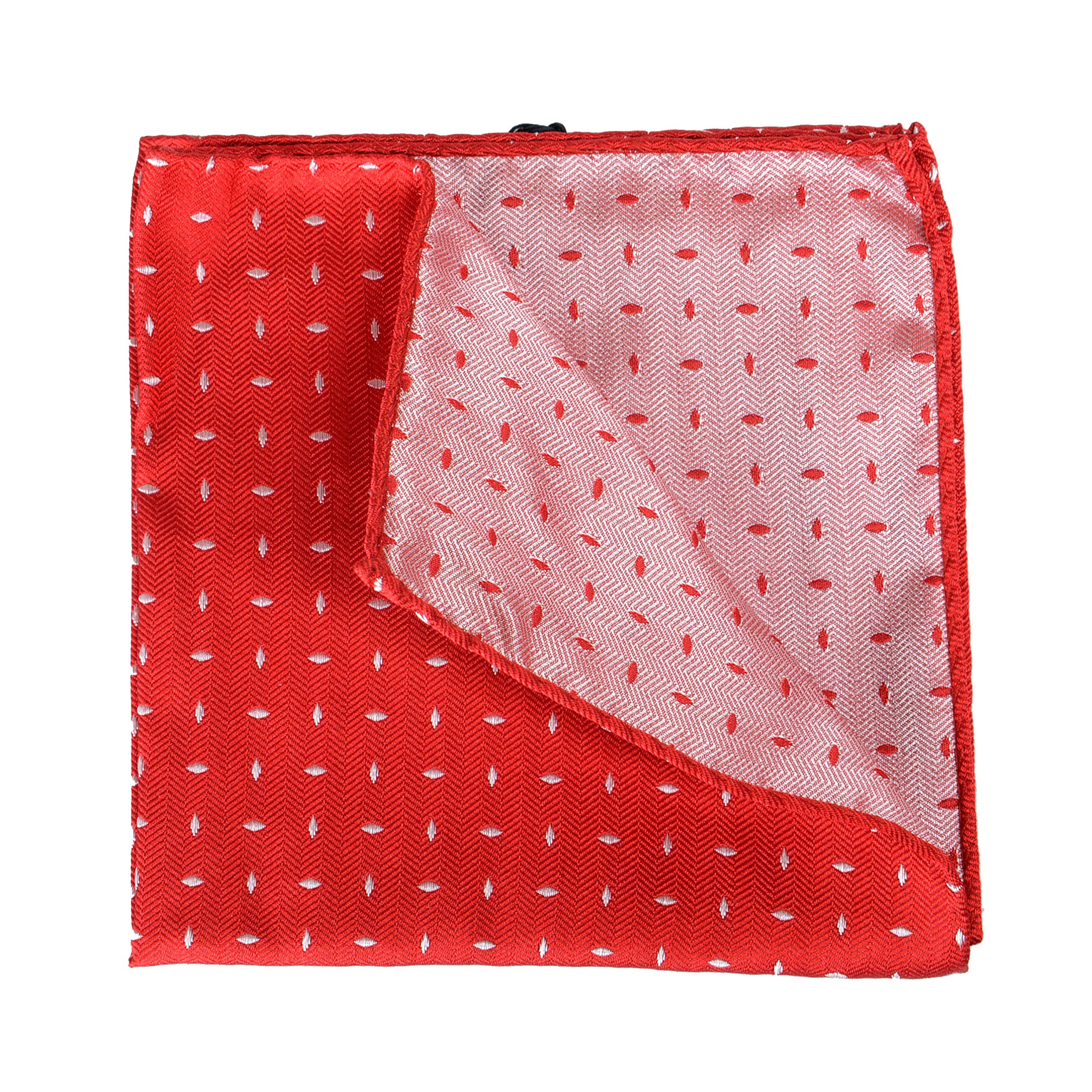 Dsquared2 Men's 100% Silk Red Pocket Square