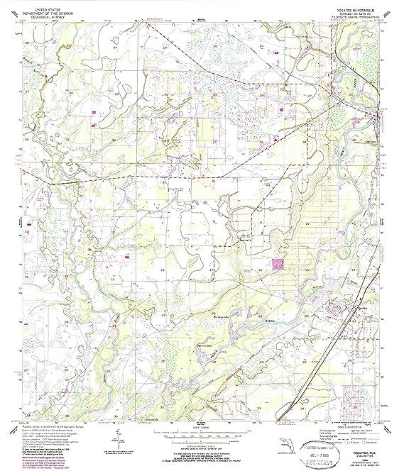 Amazon Com Yellowmaps Nocatee Fl Topo Map 1 24000 Scale 7 5 X
