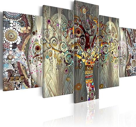 Leinwandbild Kunst-Druck 100x50 Bilder Kunst Bäume an der Wand