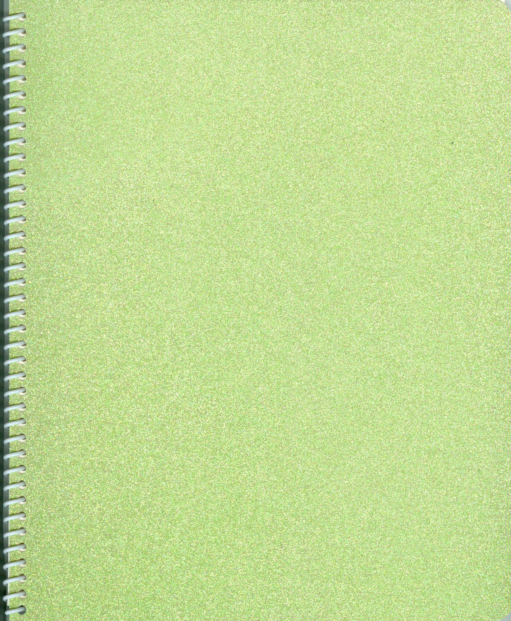 Sticker Collecting Album 5x7'' Pretty Pale Pastel Green Sparkle Glitter, Re-usable
