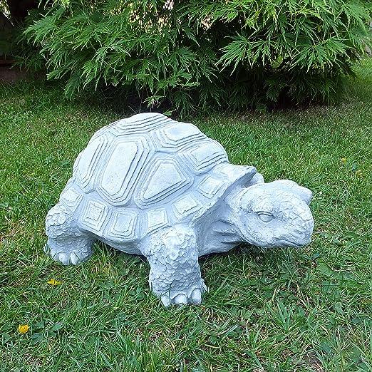 Figura de piedra grandes Tortuga 40 cm Decoración Jardín Animales Animales Figura Jardín figuras nuevo resistente a heladas macizo de piedra: Amazon.es: Jardín