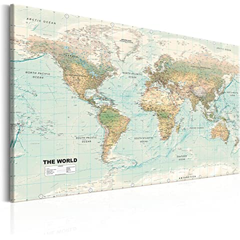 New Ikea Premiar World Map Picture with Frame/canvas Large 55 X 78 Ikea Premair World Map on