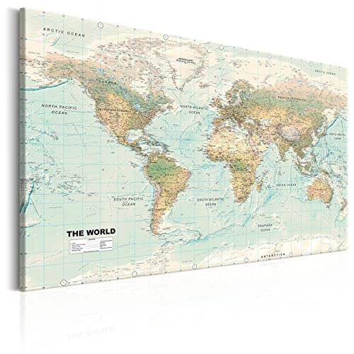 New ikea premiar world map picture with framecanvas large 55 x 78 murando image 120x80 cm image printed on non woven canvas wall art print gumiabroncs Gallery
