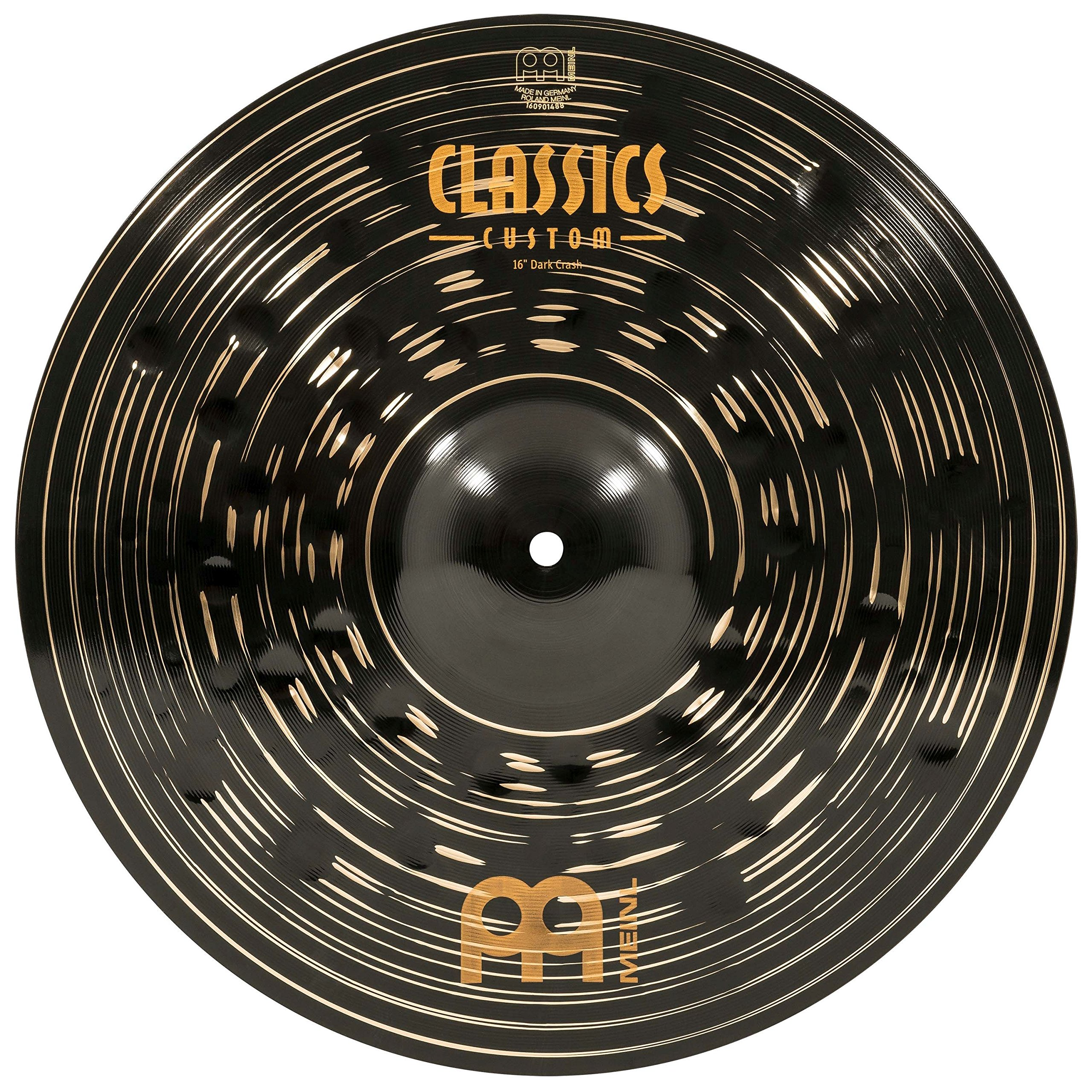 Meinl 16'' Crash Cymbal - Classics Custom Dark - Made in Germany, 2-YEAR WARRANTY (CC16DAC) by Meinl Cymbals