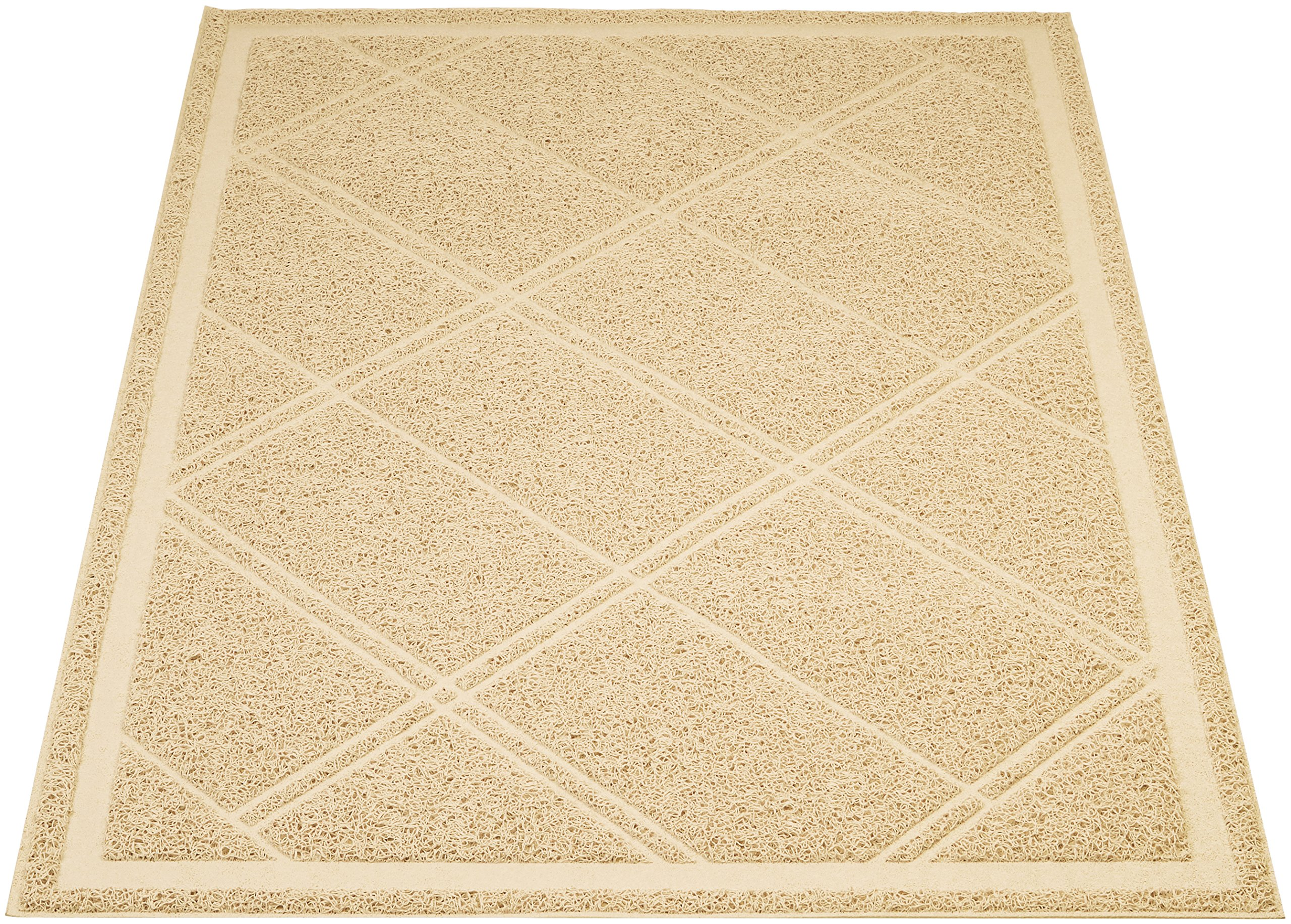 AmazonBasics Cat Litter Box Mat - 24 x 35 Inches, tan by AmazonBasics