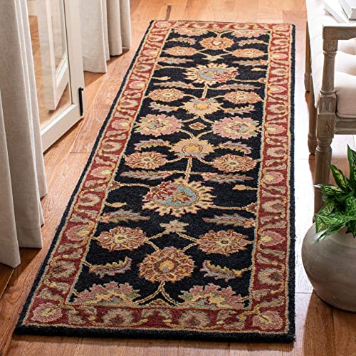 Safavieh Classic Collection CL359A Handmade Traditional Oriental Navy and Red Wool Runner 2 3 x 10