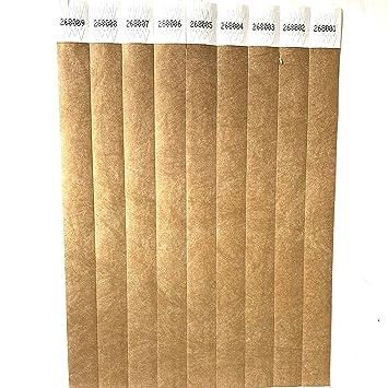 a6b7684ee2f7 Lote de 100 pulseras de papel Tyvek de 19 mm para eventos ...