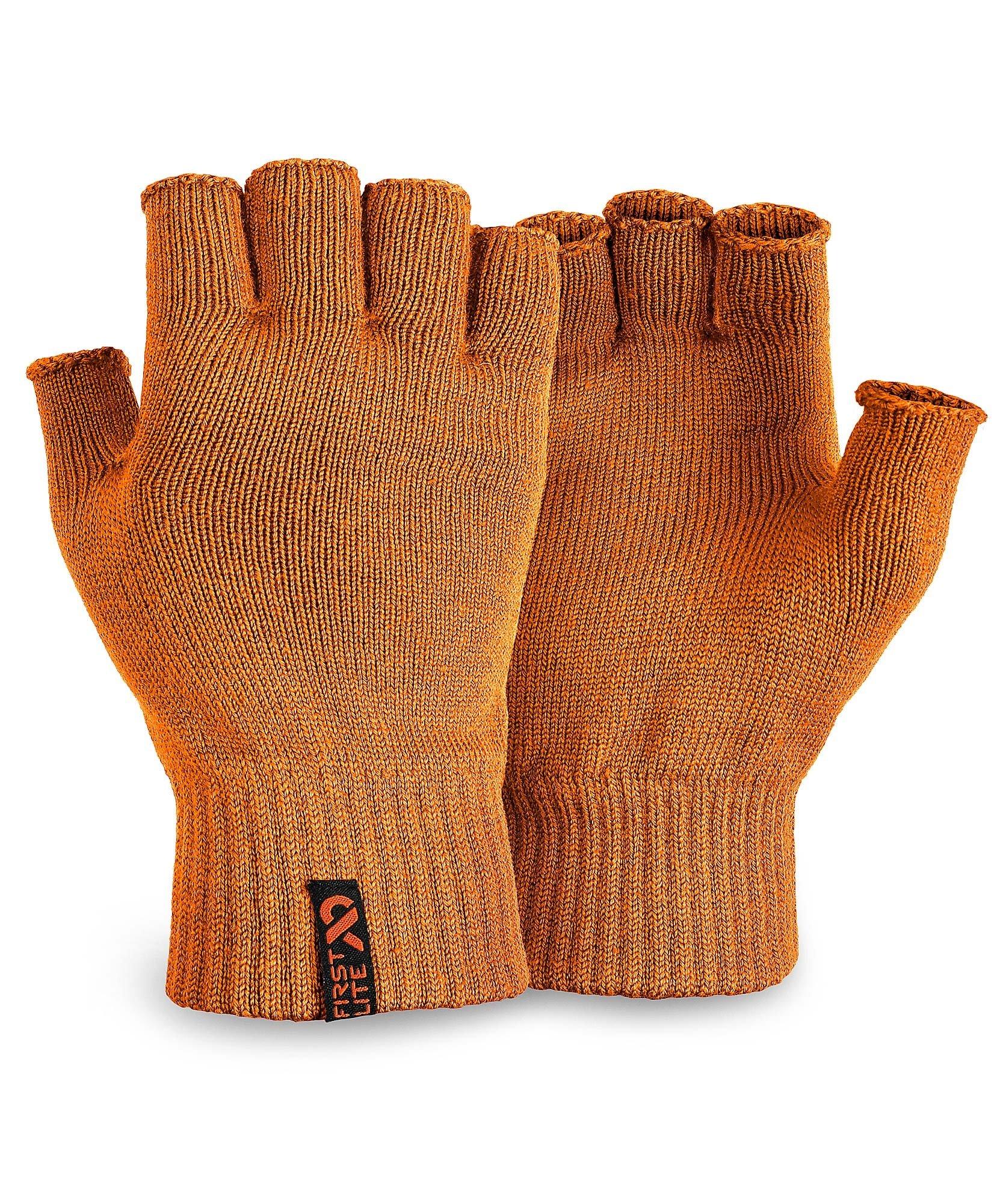 First Lite - Talus Fingerless Merino Glove in Hunter Orange SM - Hunters Orange by First Lite