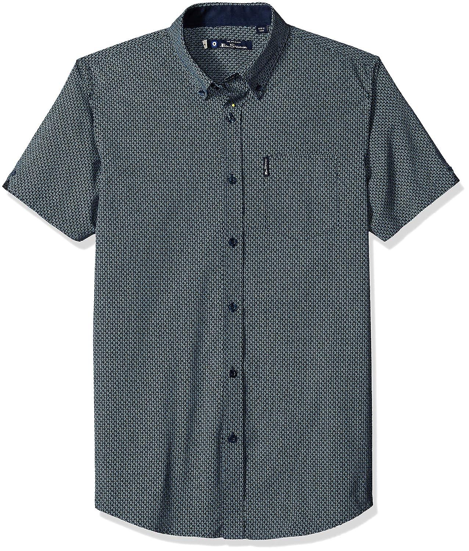 Ben Sherman Mens Ss Micro Paisley Shirt