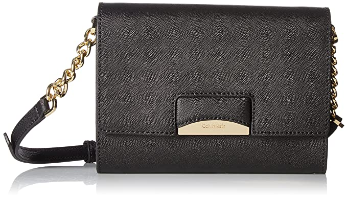 Amazon.com: Calvin Klein Connie Saffiano Crossbody, negro ...