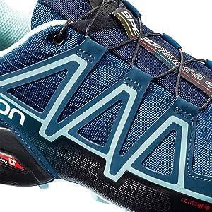 Speedcross 4 Wide Trail Running Shoe Women's PoseidonEggshell BlueBlack, US 6.5UK 5.0