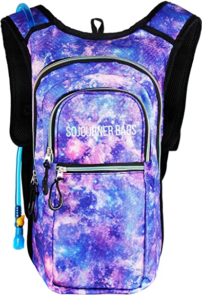 e66d1488fe Amazon.com : Sojourner Rave Hydration Pack Backpack - 2L Water Bladder  Included for Festivals, Raves, Hiking, Biking, Climbing, Running and More  (Multiple ...