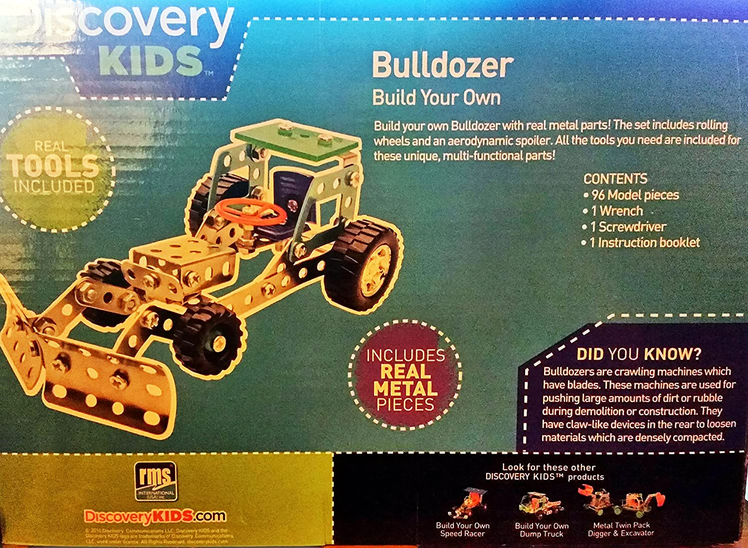 amazon com discovery kids build your own bulldozer or dump truck