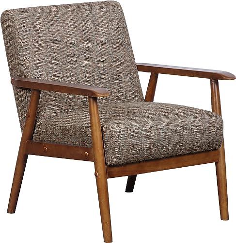 Pulaski Home Comfort Mid Century Modern Wood Frame Accent Chair