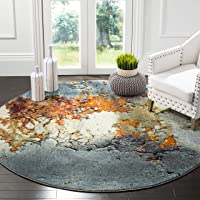 Overstock.com deals on Safavieh Glacier Abstract Blue/Multi Area Rug 6.7-in X 6.7-in