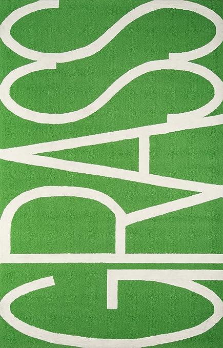 Novogratz Portico Collection Grass Area Rug, 3'9