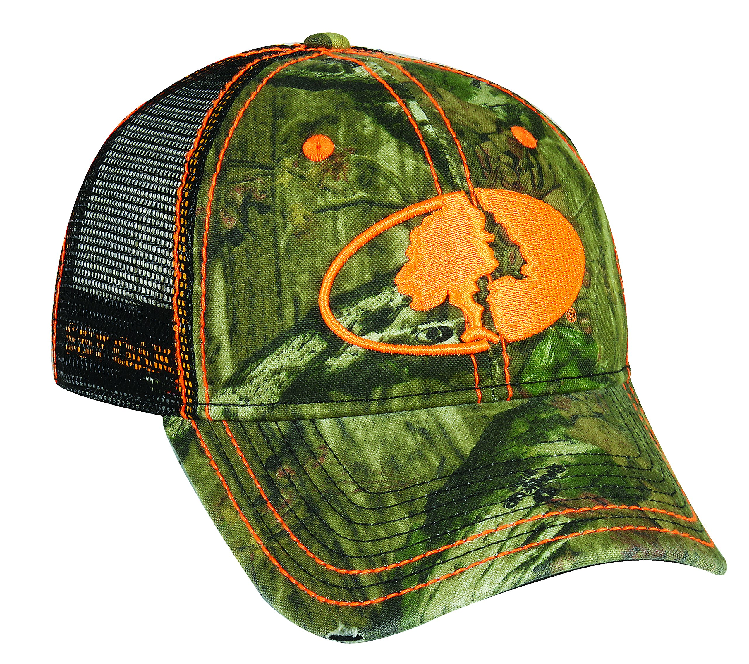Mossy Oak Adjustable Closure Mesh Back Cap, Mossy Oak Break-Up Infinity Camo/Black