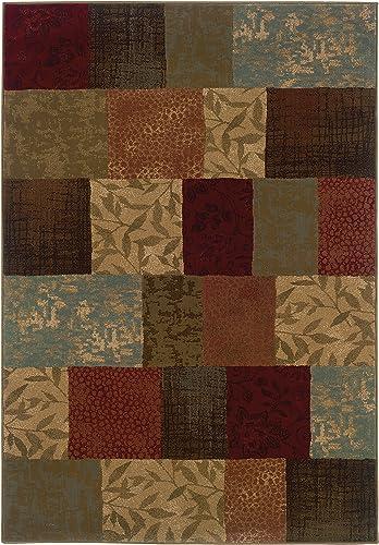 Oriental Weavers Hudson 030C1 Area Rug, 10 x 13 , Green